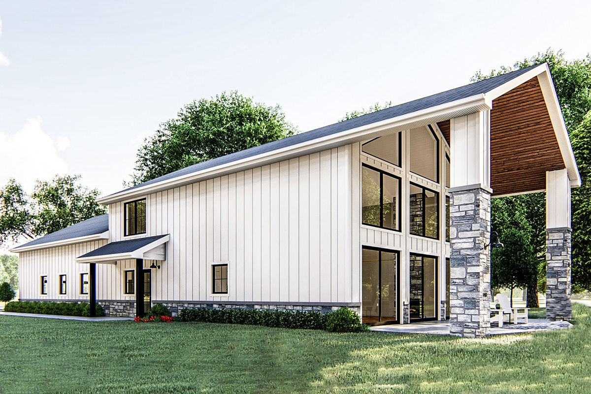A Modern Post Frame Barndominum House Plan - Barndominium.org