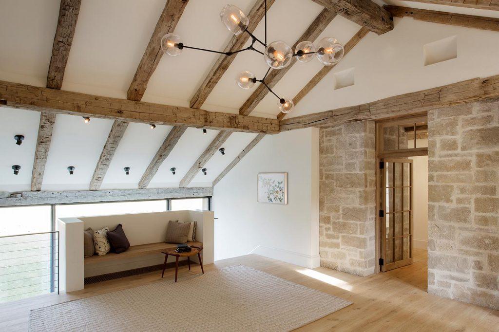 grey barn interior