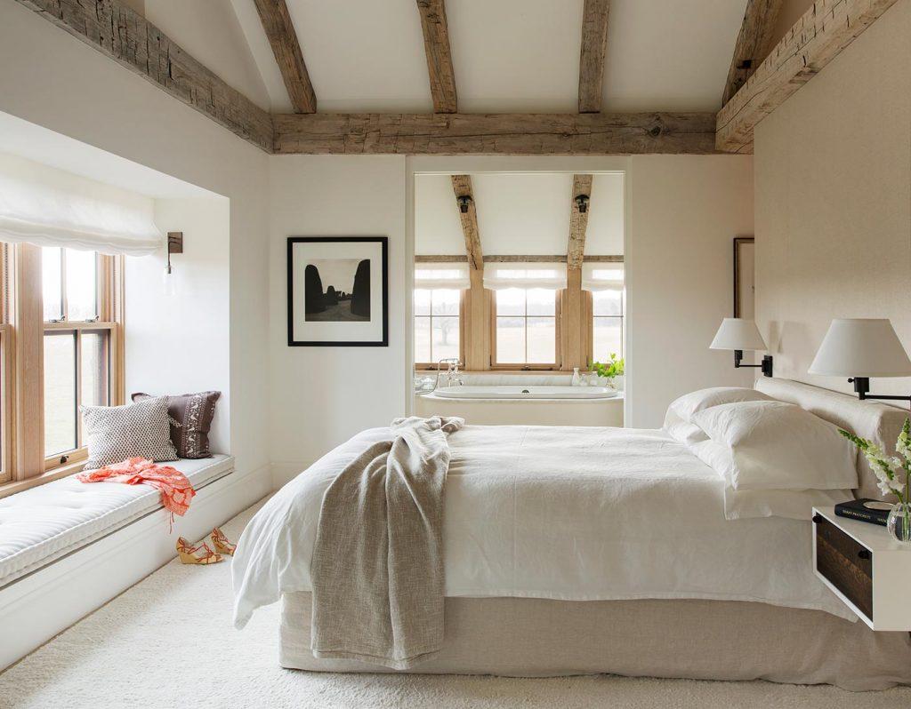 grey barn interior bedroom