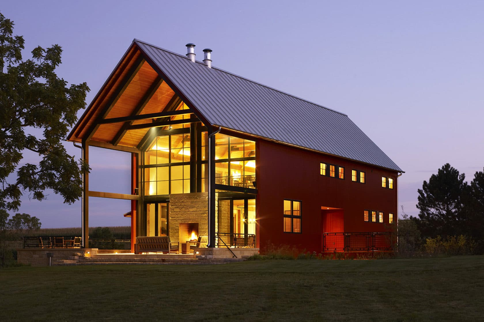 Modern Wisconsin Barn House